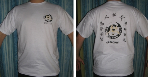 le tee-shirt du taiji wushu club grenoble